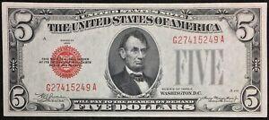 1928-C $5 Legal Tender Note - Crisp Uncirculated