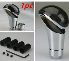 Universal Real Carbon Fiber Aluminum Gear Stick Shift Knob for Manual Car Black