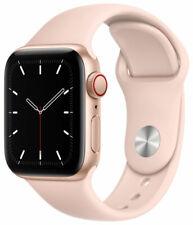 Apple Watch SE 40mm Gold Aluminum Case w/ Pink Sand Sport Band GPS + Cellular