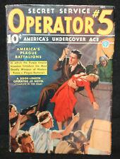 Secret Service Operator #5 Vol. 8 #1 Pulp (F/VF) December, 1936