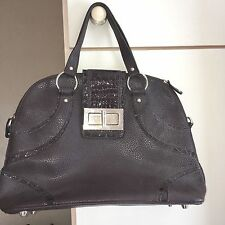 River Island large brown leather look hand/arm bag