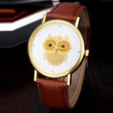 Owl Wristwatch Womens Brown Band Owl Watch Dress Business Casual Formal Informal