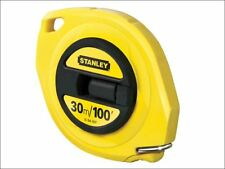 Stanley Tools - Closed Case Steel Tape 30m / 100ft (Width 9.5mm) - 0-34-107
