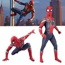 Mens Boy Superhero Spiderman Halloween Fancy Dress Costume Jumpsuit Outfits Set
