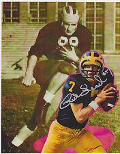 Rick Leach signed 8x10 Michgan Wolverines color Fb photo #1