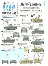 Star Decals 1/72 Befehlspanzer Kl.Bef.Pz Kpfw I & Pz Kpfw II