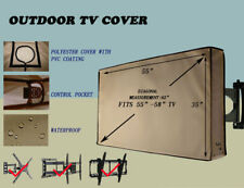 Global Tek Outdoor TV Cover, Weatherproof Universal Protector for 55""