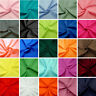 Plain Coloured Polycotton Fabric Solid Dress Craft Poly Cotton Costume Cosplay