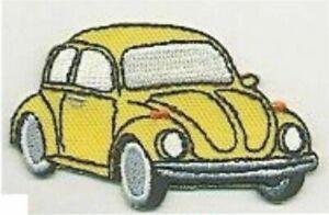 """2.5 """" Jaune Beetle Véhicule Voiture Revers Droit Patch Brodé"""