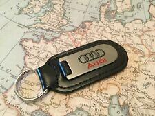 Audi Llavero Grabado Y No Relleno en Piel