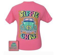 Girlie Girl Originals• Women's Hippie Chic Neon Pink T-Shirt Small