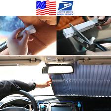 Retractable Car SUV Windscreen Sun Screen Shade Visor Heat Block 46cm x 180cm US