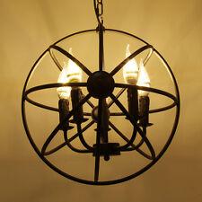 Industrie Kronleuchter Metall Licht Lamp Pendelleuchte Deckenleuchte 5-flammig