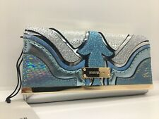 River Island  Blue glitter cutabout clip top purse   new with tags