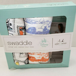 2 aden + anais Disney Baby Classic Muslin Swaddle Blanket Winnie The Pooh New
