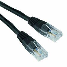 Black 25m RJ45 Cat5e Ethernet Network LAN Patch Cable Lead