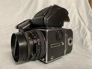 HASSELBLAD 503CXi Camera w/ Planar 80mm f/2.8 Lens, Prism Finder PM45 & Winder