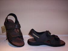 Arizona scarpe sandali Made in Italy uomo pelle camoscio marrone grigio slippers