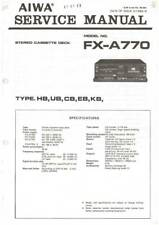 AIWA FX-A770 FX A770 - SORTING SYSTEM - SERVICE MANUAL IN COLOR VERSION -