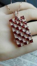2.25ct 14k Rose Gold Diamond Pendant Necklace