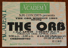 More details for the orb, the orb mission 93 manchester academy 16 april 1993 ticket stub
