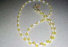 White and Yellow Matte Eyeglass Sunglasses Chain Holder - 8714