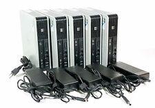 LOT OF 5 HP Compaq dc7900 Ultra-Slim USDT USFF Desktop 4GB RAM/160GB HDD w/PS