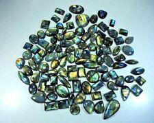 5000cts. Loose Multi Flash Labradorites cabochon Gemstone 60 Piece Lot