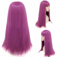 Descendants 2 Mal Cosplay Wig Long Purple Straight Costume Party Fancy Dress Wig