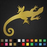 Gecko Aufkleber Auto Sticker Tuning Wandtattoo Echse Salamandar Lizard Eidechse