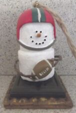 Vintage Midwest of Cannon Falls S'more Football Player with ball Smore Ornament