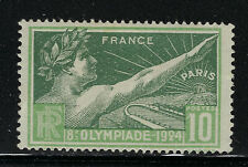 FRANCE SCOTT #198 1924 10 CENTIME OLYMPIC GAMES ISSUE MH F-VF!