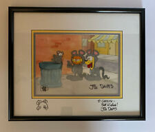 1999 Garfield Framed/Matted Original Animation Production Art Paws Cell Signed