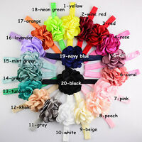 1/20pcs Kid Baby Girl Headwear Flower Headband Hair Bow Lot photography Gift New