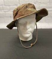 US Military Camo Boonie Hat Sun Hot Weather Type II Size 7 3/4 MIL-H-44105