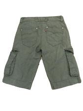 Mens Levis Cargo Dark Green Shorts - W34