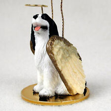Springer Spaniel Ornament Angel Figurine Hand Painted Black