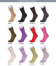 New Porta Rossa Couture Men's Dress Socks 100% Nylon Universal Fit