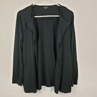 J Jill Wearever Collection Womens Cardigan Size S Black Open Front Long SLeeve