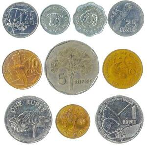 10 DIFFERENT COINS FROM SEYCHELLES. CURRENCY COLLECTION: CENTS, RUPEES 1972-2016