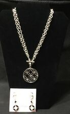 PREMIER DESIGNS - FULL CIRCLE  - REVERSIBLE NECKLACE AND EARRINGS SET $82 - NEW