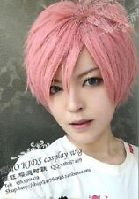 Anime Fairy Tail Natsu pink short cosplay wig H163