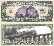 Two Railroad Mail Train USPS Postal History Bills # 057