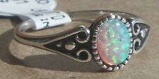 Sterling Silver Rings Wheeler Lab Created Opal  sro 181