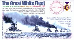 """COVERSCAPE computer designed 105th anniversary """"Great White Fleet"""" event cover"""