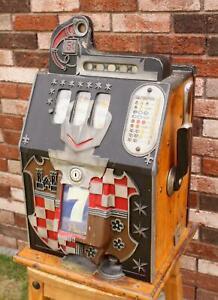 Original Antique 1930s Mills Castle Nickel Slot 5 Cent Slot Machine WORKING!!