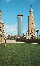 Clock & Lookout Towers Band Shell  Daytona Beach Florida Postcard