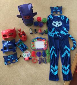 PJ Masks Bundle - Figurines, Costume, Masks, Play Doh Set, Vehicles, Etchasketch