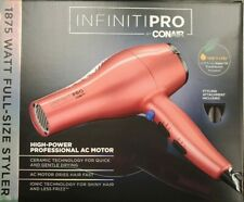 InfinitiPro Conair 1875W Blow Dryer Salon Professional Styling Tool Color Varies