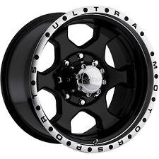 17x8 Black Ultra Rogue Wheel 7x150 +20 Offset 175-7876B